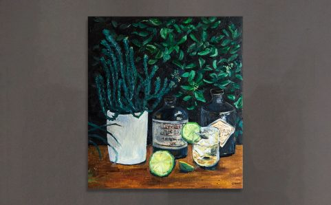 Lime&Hendrick's Gin.