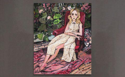 A girl in Garden.