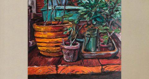 Garden table. 桌子上的花园