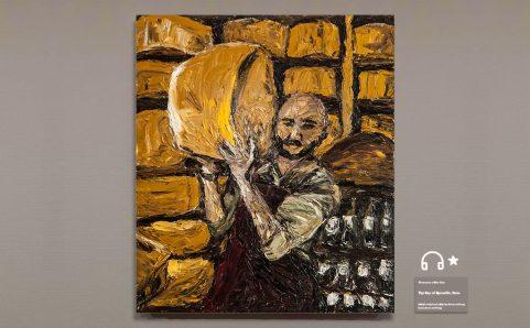 Men shouldered the Parmigiano-Reggiano.