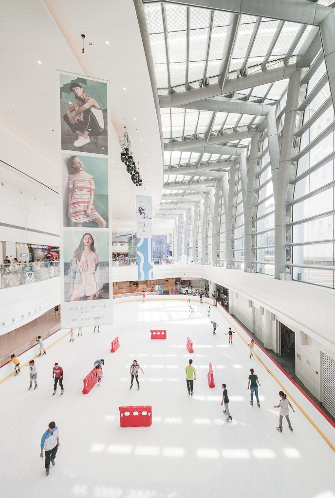 18大连恒隆广场-商场顶层冰场