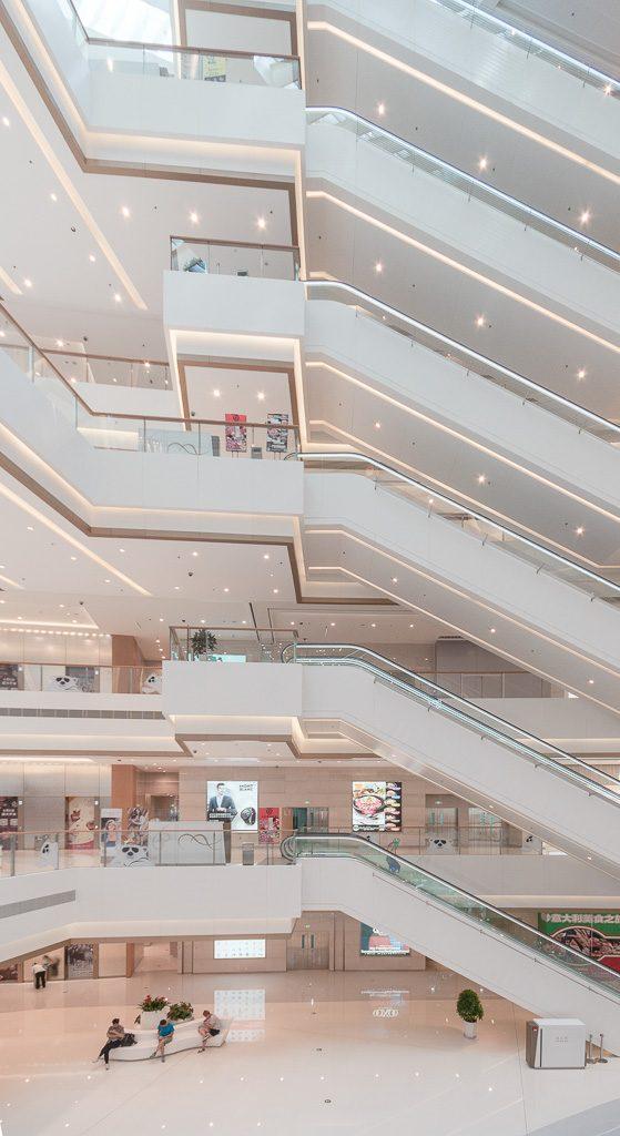 3大连恒隆广场 自动扶梯立面