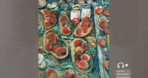 Still Life with Fruit Dish and Apples.
