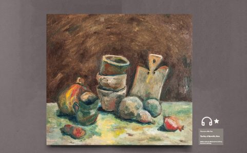 Still Life with Calabash Gourd and Pomegranate.