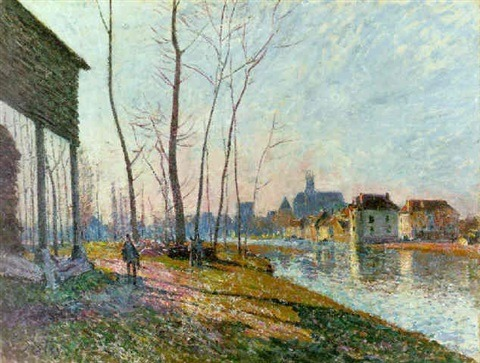 Alfred Sisley, A February Morning at Moret-sur-Loing, 1881, Private Collection