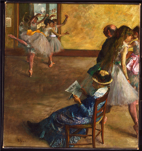 dgar Degas, Le Foyer de la Dance, 1880-1881, Philadelphia Museum of Art, Philadephia