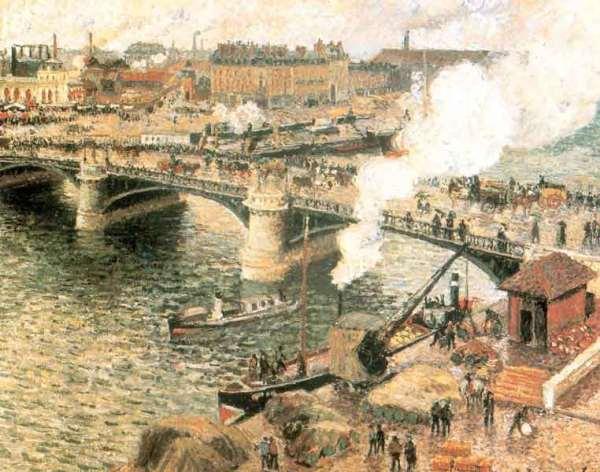 Camille Pissarro, Pont Boieldieu in Rouen, Rainy Weather, Art Gallery of Ontario, Toronto