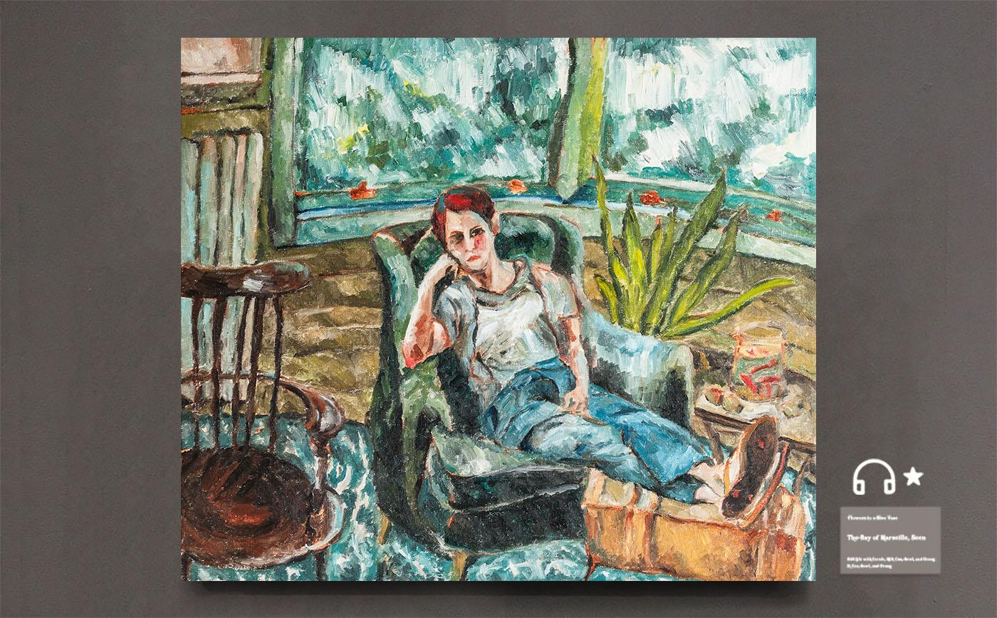 girl in a sofa.沙发上的女孩儿 布面油画