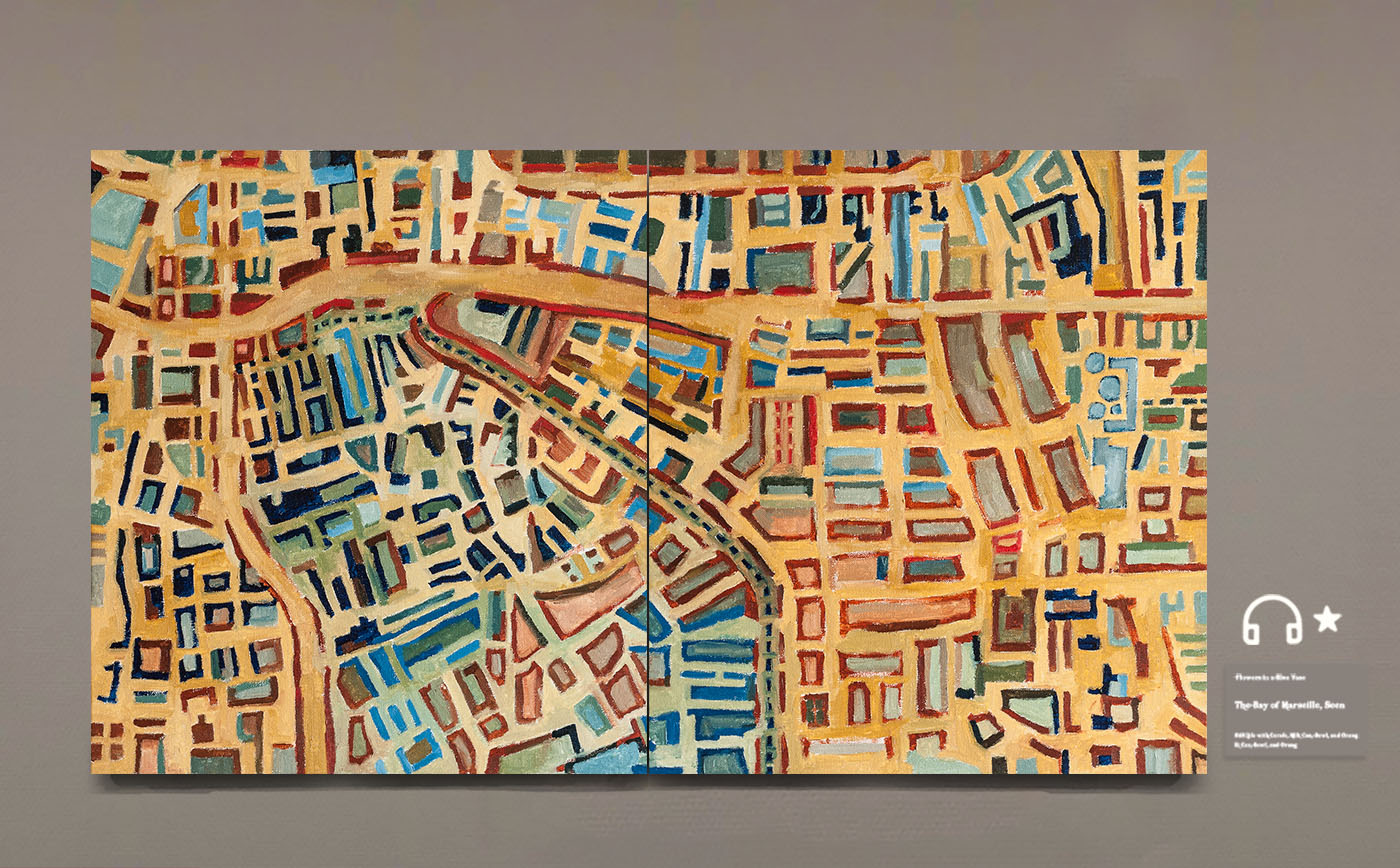 Maps.地图 布面油画
