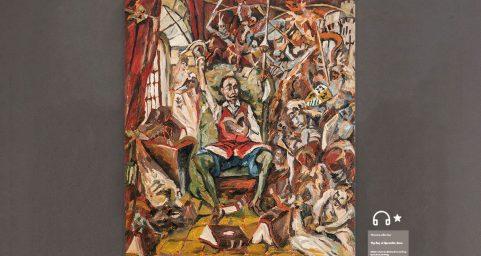 Don Quixote in His Study.
