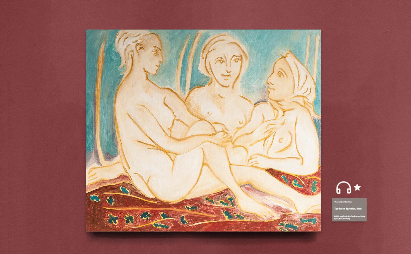 re Three Female Nudes 复刻三裸女 布面油画