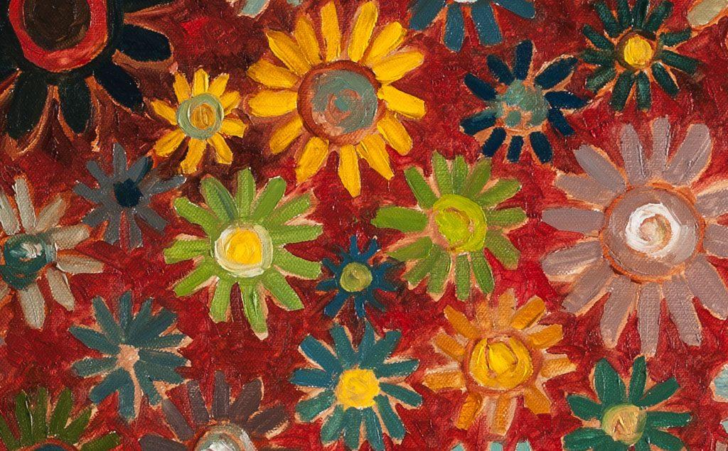 sunflower.太阳花b 布面油画