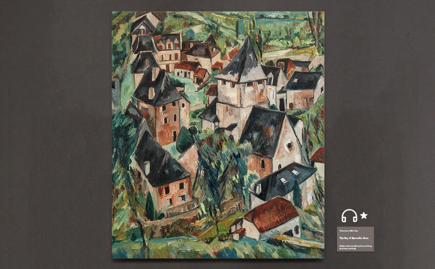 Ancient village, Provence.普罗旺斯小镇 布面油画