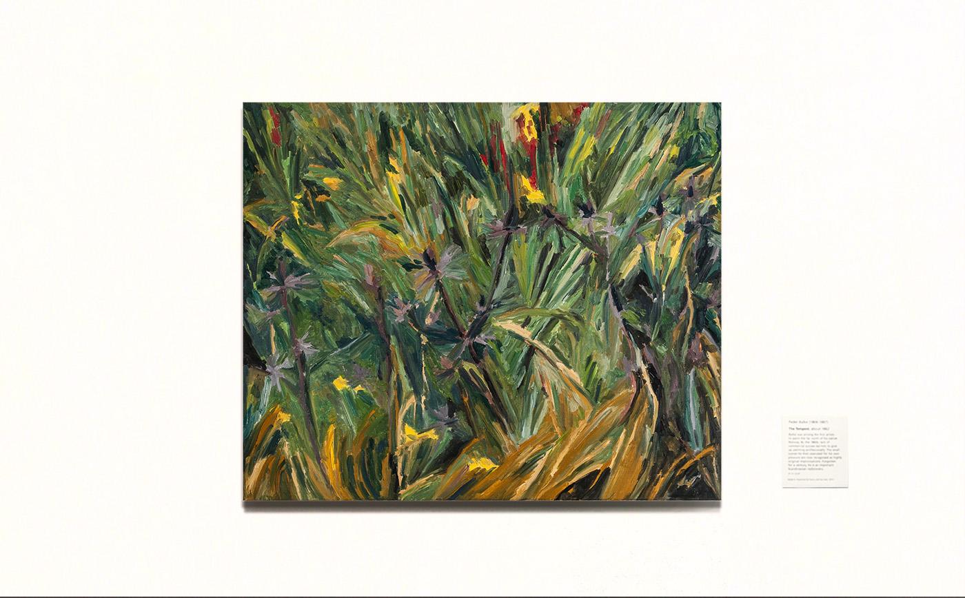 Eryngium. 刺芹 布面油画