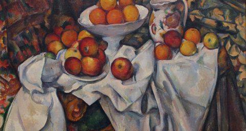 有苹果和橘子的静物
