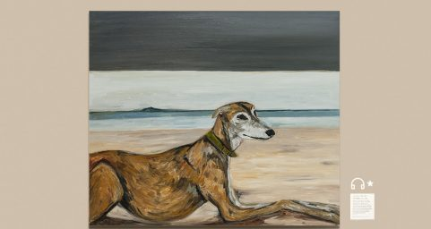 whippet by the sea.