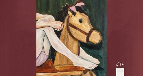rocking horse and stocking.