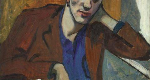 Portrait of Dick Bagley. by Alice Neel