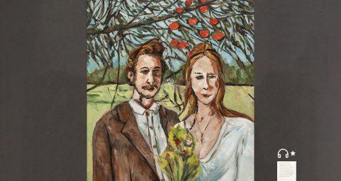 Wedding,under the apple tree.