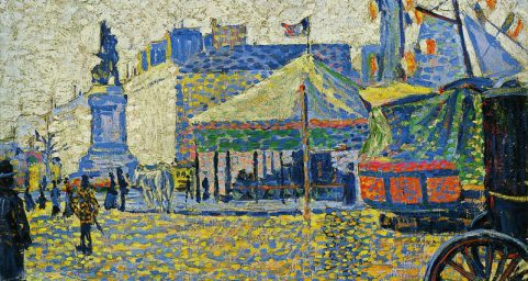 Place de Clichy. by Paul Signac