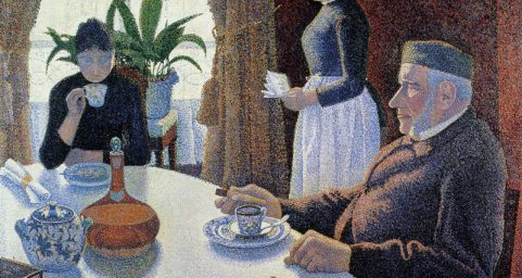The Dining Room, Opus 152. by Paul Signac