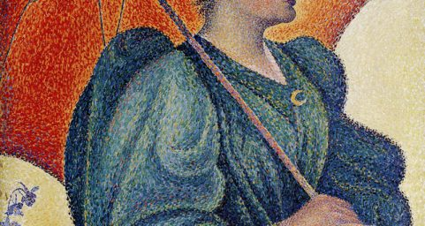 Woman with a Parasol, Opus 243. by Paul Signac