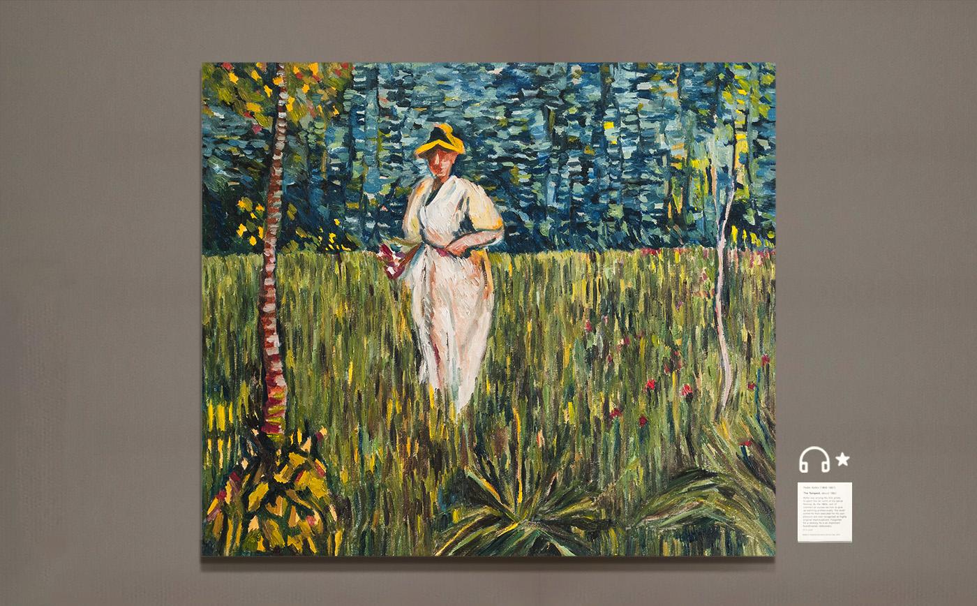 re Woman in a Garden.花园女人 布面油画