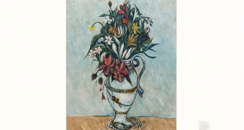 Flowers in a Rococo Vase.