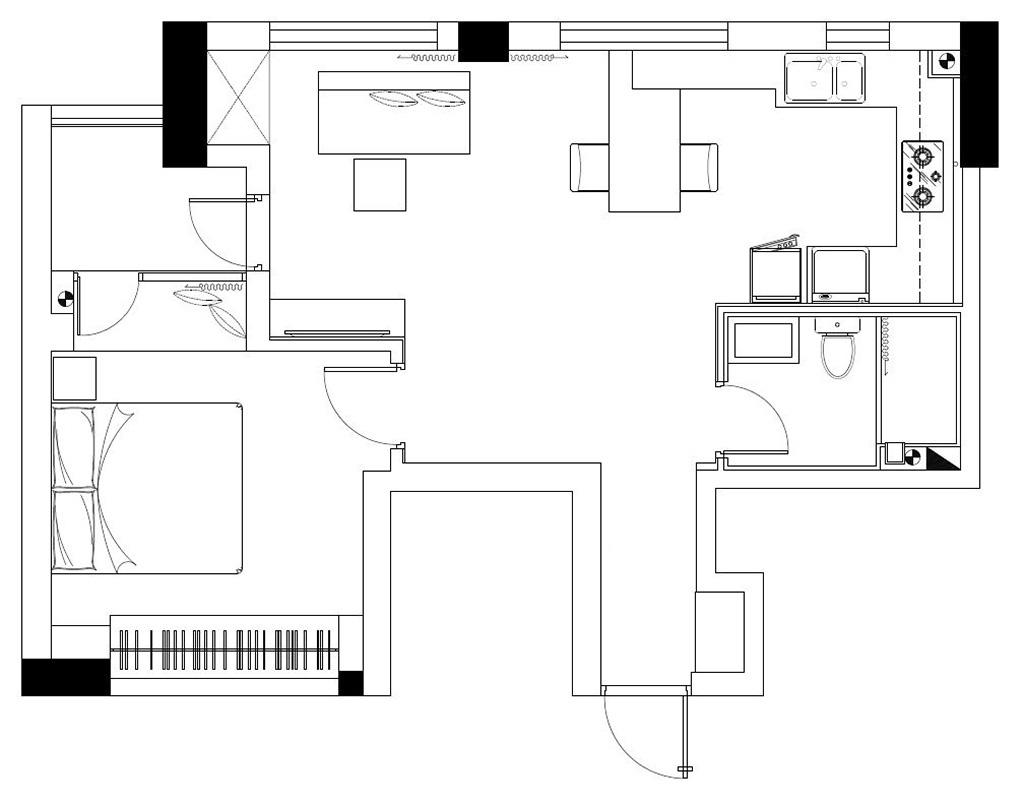 能看到湖水的公寓 -平面图