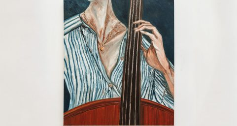 playing cello.