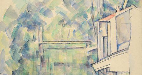 曼西桥.纸上水彩
