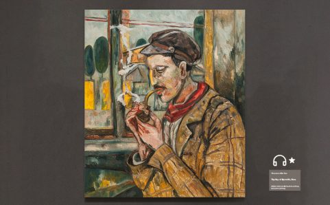 man with a pipe.