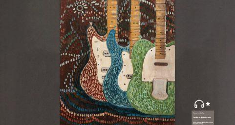 三个电吉他.