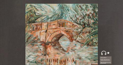 橘色的砖桥.